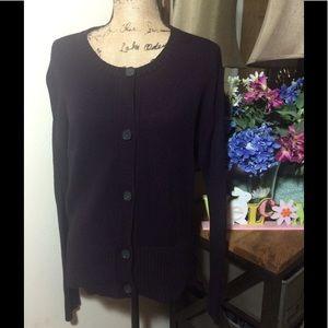 LOFT Sweaters - Ann Taylor Loft Deep Purple Cardigan NWOT