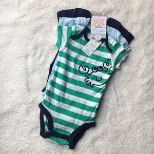 Carter's Other - NWT Set of 3 Short Sleeved Bodysuits by Carters