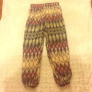 Unique Gorgeous Tribal Pattern Parachute Pants