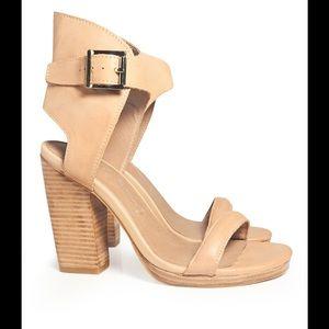 Jeffrey Campbell Shoes - Jeffrey Campbell Shindig Nude Platform Heel Sandal