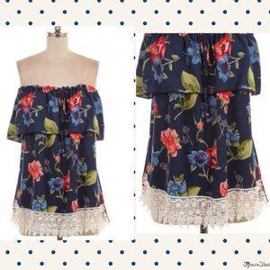 Tops - NEW ARRIVAL Off Shoulder Floral Top