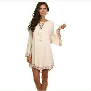 Dresses & Skirts - BOHO NWT Western Style Tunic Dress Peach Sz S/M