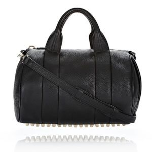 ALEXANDER WANG ROCCO SOFT BLACK WITH PALE GOLD 