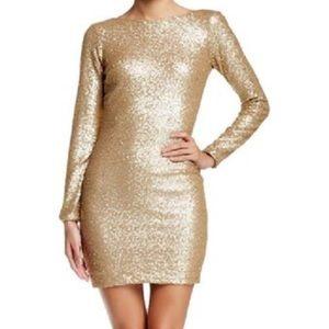 Dress the Population Dresses & Skirts - Backless long sleeve Kelly dress