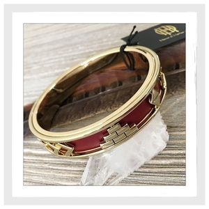 House Of Harlow 1960 Aztec Leather Bangle