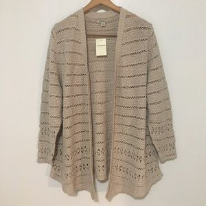 Lucky Brand Sweaters - Lucky Brand Cardigan Sweater Knit Open Front