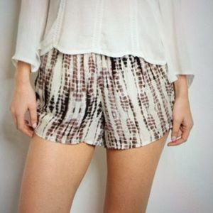 Pants - Shorts ivory brown