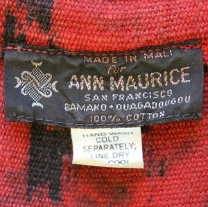 Ann Maurice Jackets & Coats - Red Ikat Vest, Hand Dyed and Woven in Mali