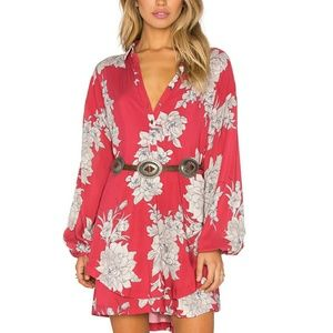 Free People Dresses & Skirts - Free People Red Floral Dress
