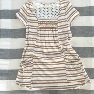 Meadow Rue Smocked, Striped Tunic, Eyelet Detail