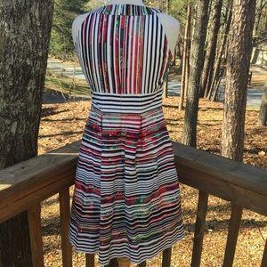 Nine West Dresses - Nine West Striped Floral Halter Easter dress