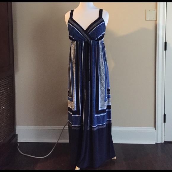 INC International Concepts Dresses | Beautiful Plus Size Navy Maxi ...