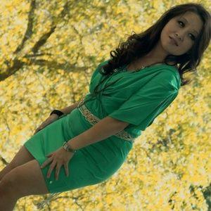 Apple Bottoms Dresses & Skirts - Women's Apple Bottoms Teal / Green Dress with Belt