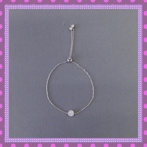 Boutique Jewelry - 💥Silver Adjustable Bracelet with Cubic Zirconia💥