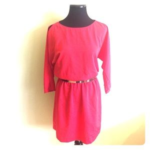 French Connection Dresses & Skirts - 💔 FRENCH CONNECTION cold shoulder red dress XS