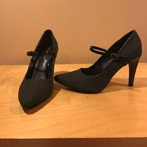 Dana Buchman leather&fabric heel