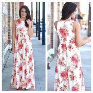 ❤️LAST ONE! Ivory Floral Maxi Dress