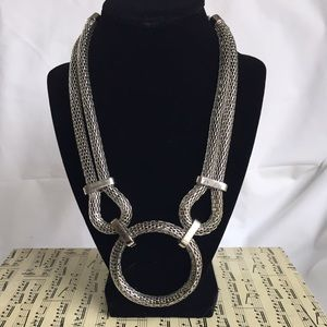 Fashion to Figure Jewelry - Fashion to Figure Silver Statement Necklace