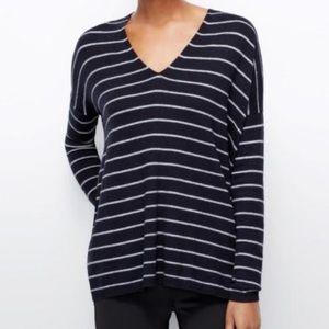 Ann Taylor striped knit sweater tunic size medium