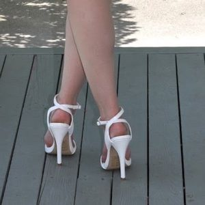 shoedazzle Shoes - White heels