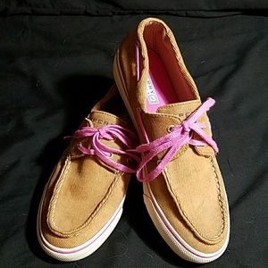 Sperry Shoes - Sperry Loafers with Pink Accent