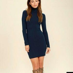 Lulu's Dresses & Skirts - Navy turtleneck dress