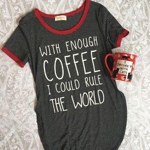 Coffee addict super soft tee size small