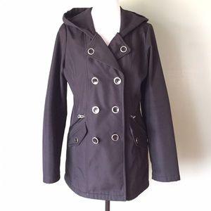 Sebby Jackets & Blazers - Black waterproof pea coat size medium