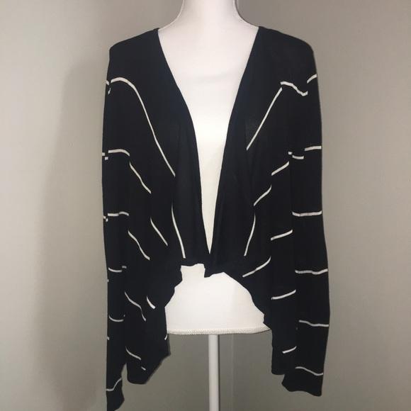 9e28a663b0 Cyrus Sweaters - Cyrus 🌈 Black and White Waterfall Cardigan
