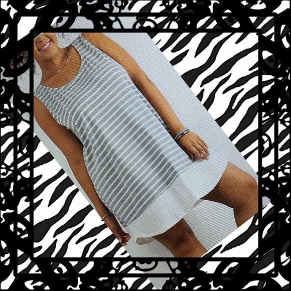 J Mode Dresses & Skirts - 🌟🌟2X or 3X🌸 striped contrast hem dress