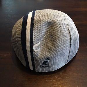 Kangol Accessories - Kangol hat polo stripe. Gray and navy men s medium 317c6485b37