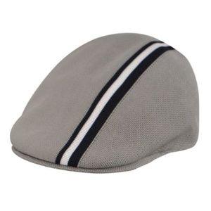 Kangol Other - Kangol hat polo stripe. Gray and navy men's medium