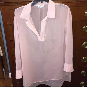Barneys New York Tops - Barneys (new) mauve-pink sheer tunic size Medium
