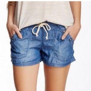Jolt Pants - Jolt denim jean shorts with drawstring