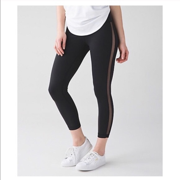 c7746eea364144 lululemon athletica Pants | Mesh Side Stripe Lululemon Leggings ...