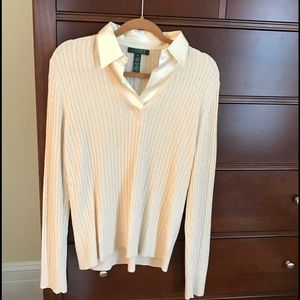 Lauren Ralph Lauren Silk & Cashmere Cable Sweater