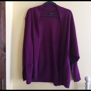 a.n.a Sweaters - NWT Purple Cardigan