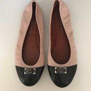 Marc by Marc Jacobs pink and black flats