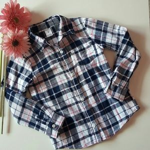 Carter's Other - Carter's Size 4 Metallic Plaid Flannel