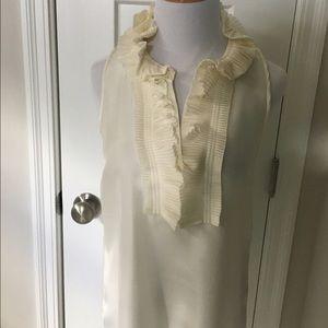 J. Crew silk sleeveless top with ruffles size 2