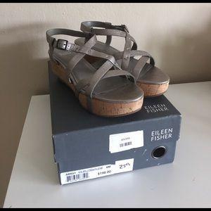 Eileen Fisher Shoes - Eileen fisher array cork sandals 6