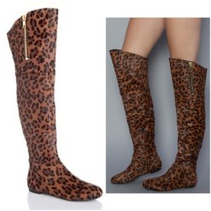 "Sam Edelman Shoes - Sam Edelman ""James"" knee high leopard print boots"