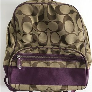 a675b6dee7 Coach Bags - Coach F77171 signature backpack.