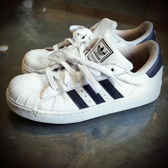 Vintage 90's Original Adidas Superstar!! WHITE!
