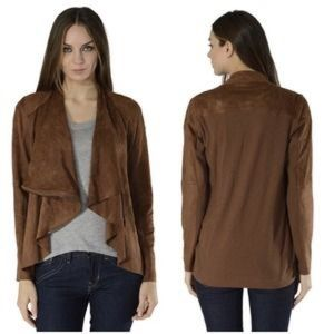 Fate Jackets & Blazers - Fate vegan faux suede drape moto jacket L