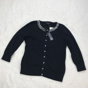 Cable & Gauge Sweaters - Cable & Gauge Beaded Cardigan