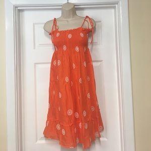 J. Crew Dresses & Skirts - J crew orange & white sundress