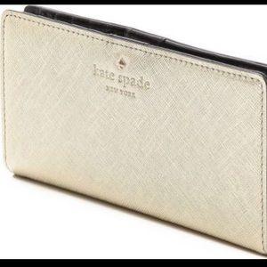 kate spade Handbags - Kate Spade Gold Wallet