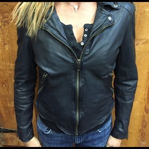 Muubaa Jackets & Blazers - Muubaa Moto short leather jacket. NEW