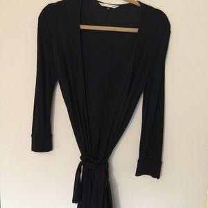 Diane von Furstenberg Dresses & Skirts - Diane von Furstenberg sz 12 black wrap  dress